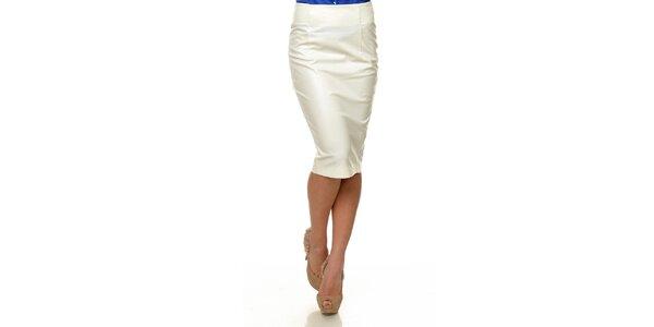 Dámska biela koženková sukňa Joseph Alessander