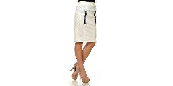 Dámska biela koženková púzdrová sukňa Joseph Alessander