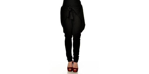 Dámske čierne zaväzovacie háremové nohavice Joseph Alessander