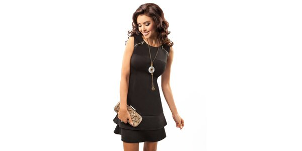 Dámske čierne elegantné šaty Enny