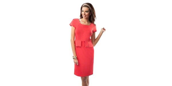 Dámske šaty v korálovej farbe Enny