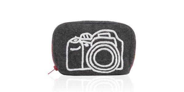 Šedo-červené púzdro na fotoaparát Sewlomax