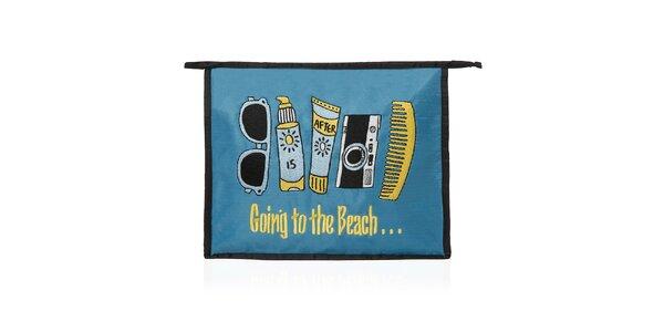 Dámska čierno-modrá plážová taštička Sewlomax