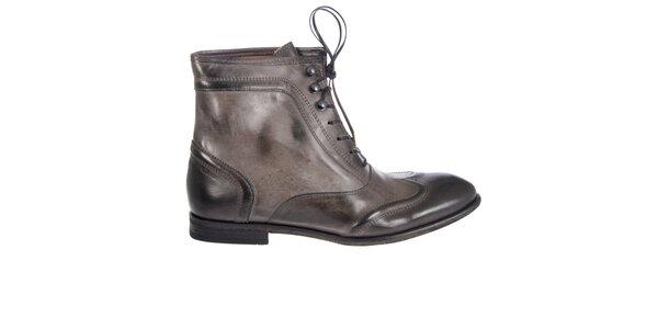 Dámske oveľovo šedé kotníkové topánky Hudson