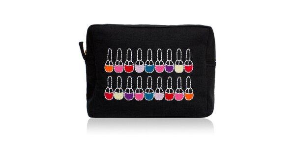 Čierna taška na make-up Sewlomax