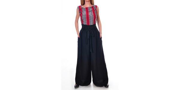 Dámske široké nohavice v čiernej farbe Daka