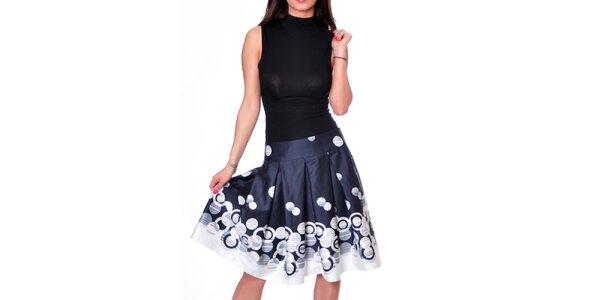 Dámska tmavo modrá sukňa so vzorom Daka