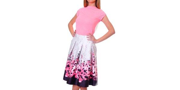 Dámska ružovo-fialová sukňa s kvetinami DAKA