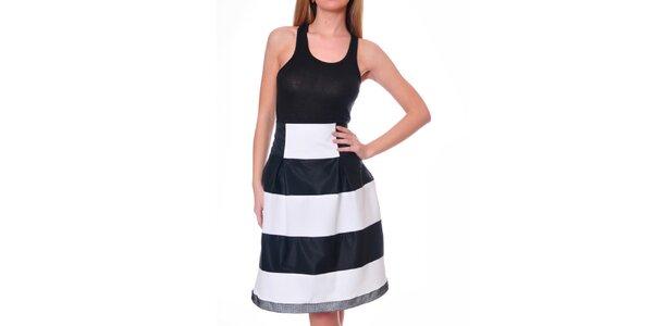 Dámska čierno-biela sukňa so širokými pruhmi DAKA