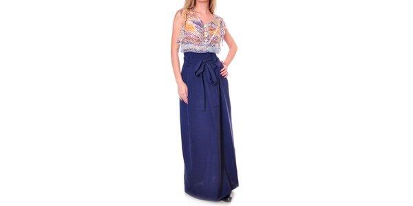 Dámska dlhá modrá sukňa Daka