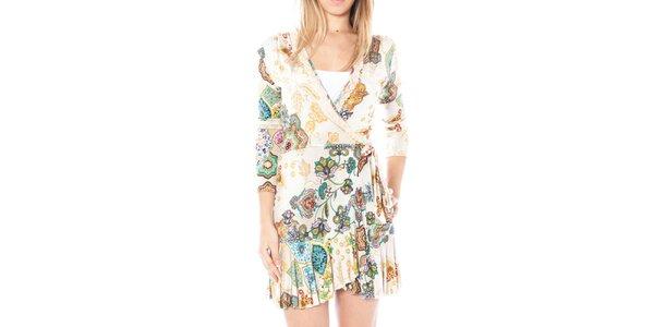 Dámske svetlé šaty s potlačou Nancy N.