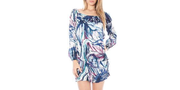 Dámske modro vzorované vzdušné šaty Nancy N.