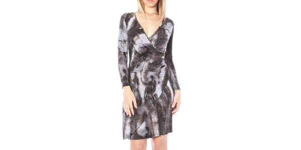 Dámske zavinovacie šaty so zvieracím vzorom Nancy N.