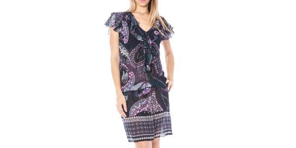 Dámske šaty s volánikovými rukávmi Nancy N.
