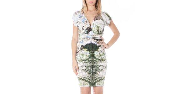 Dámske šaty s farebnou potlačou Nancy N.