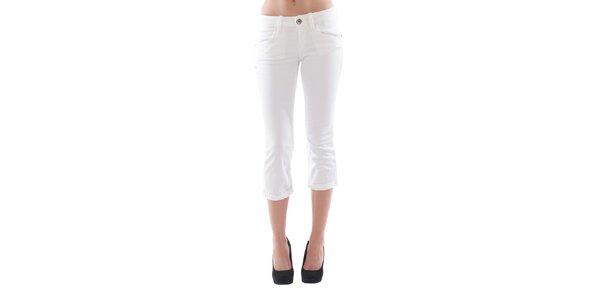 Dámske 3/4 biele džínsové nohavice Fornarina