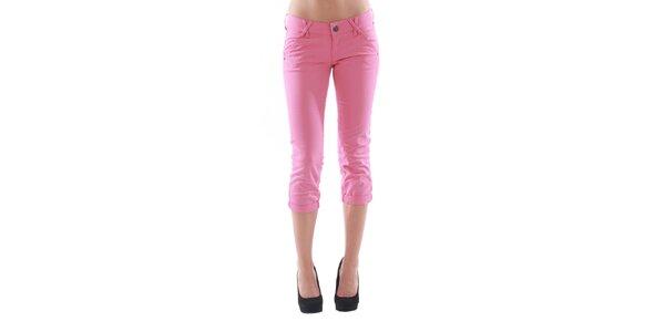Dámske 3/4 ružové nohavice Fornarina