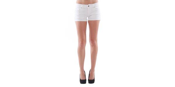 Dámske biele džínsové šortky Fornarina