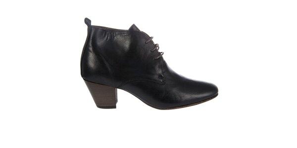 Dámske čierne kotníkové topánky Hudson