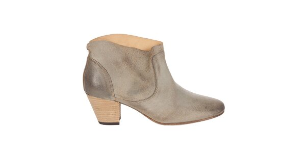 Dámske béžové kotníkové topánky Hudson