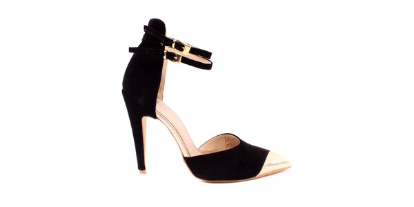 Dámske čierne semišové sandálky Pieces