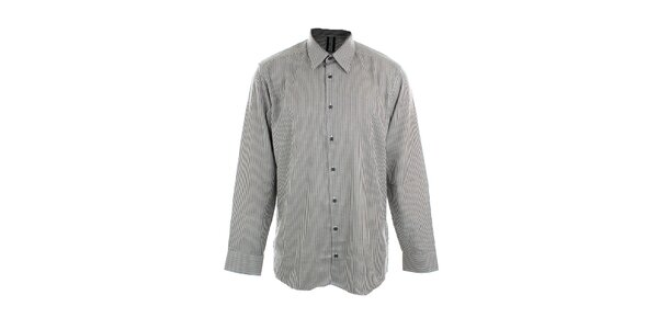 Pánska čierno-biela prúžkovaná košeľa Pietro Filipi