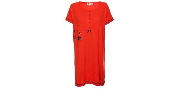 Dámska červená nočná košeľa Isma