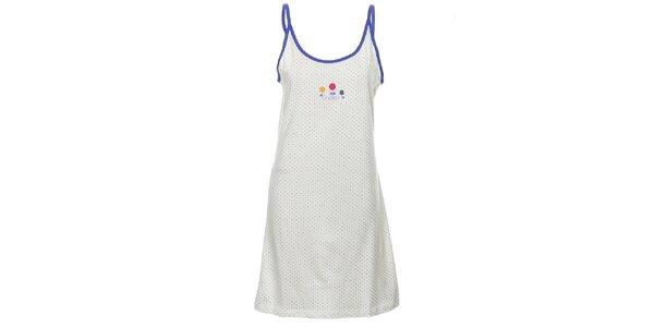Dámska bielo-modrá nočná košeľa Isma