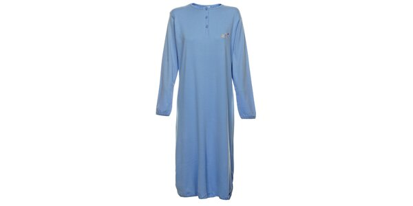 Dámska svetlo modrá dlhá nočná košeľa Cocodream