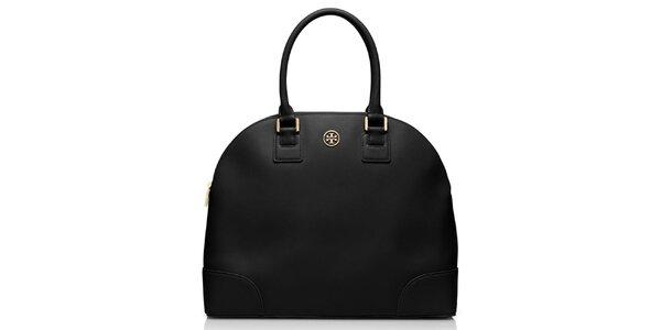 Dámska čierna kožená bowlingová taška Tory Burch