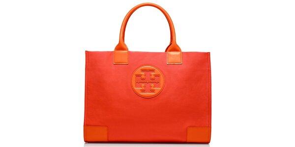 Dámska oranžová hladká kabelka Tory Burch
