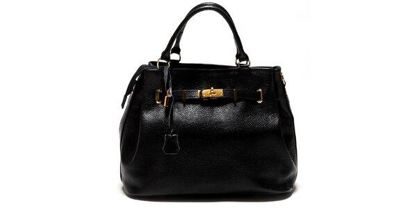 Dámska čierna kabelka so zámčekom Isabella Rhea