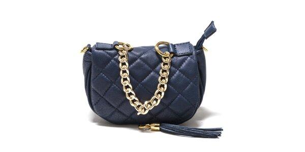 Dámska modrá prešívaná kabelka Isabella Rhea
