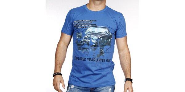 Pánske modré tričko s autom Pontto