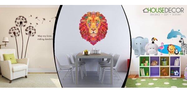 Veľký výber samolepiek na stenu. Exkluzívne designy, ktoré inde nenájdete.