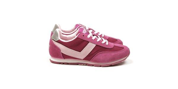 Dámske ružové tréningové tenisky Pony