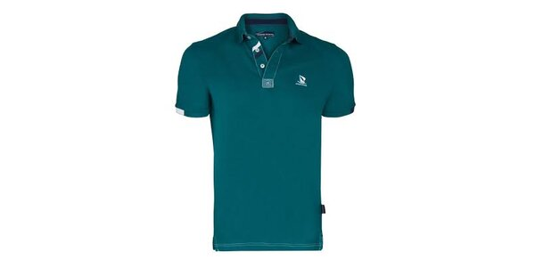 Pánske zelené polo tričko s plachetnicou a krátkym rukávom Giorgio di Mare
