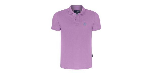Pánske ružovofialové polo tričko Giorgio di Mare