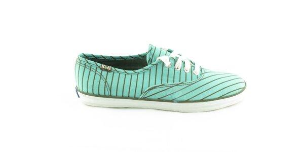 Dámske modro-zelené prúžkované tenisky Keds