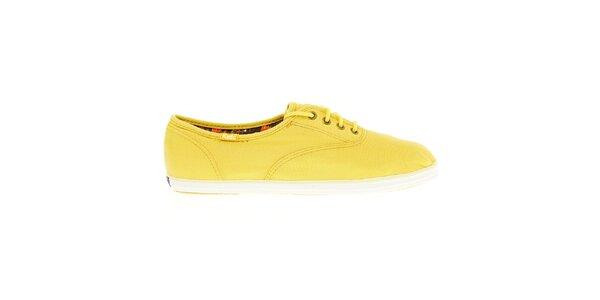 Dámske žlté plátené tenisky Keds
