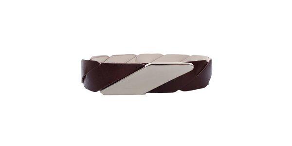Dámsky kožený opasok s kovovým zapínaním Via Uno