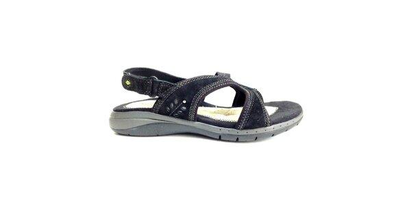 Dámske čierne zdravotné sandále Via Uno