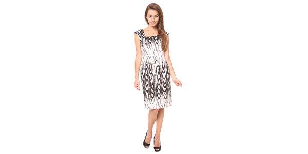 Dámske svetlé šaty s hnedým vzorom Moda Prym