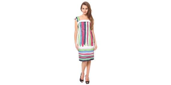 Dámske pestrofarebné púzdrové šaty Moda Prym