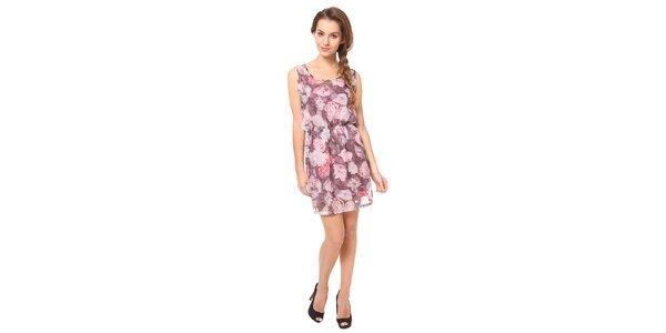 Dámske ružové vzorované šaty Moda Prym