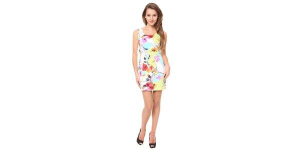 Dámske farebné kvetinové šaty Moda Prym