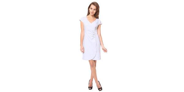 Dámske svetlo šedé šaty s ozdobným zipsom Moda Prym
