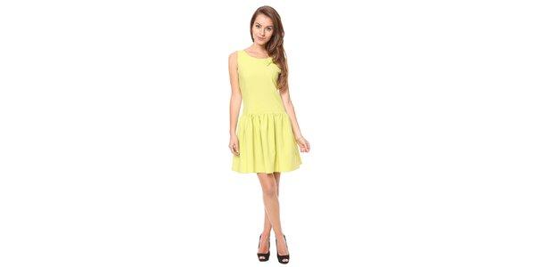 Dámske limetkovo zelené šaty bez rukávov Moda Prym