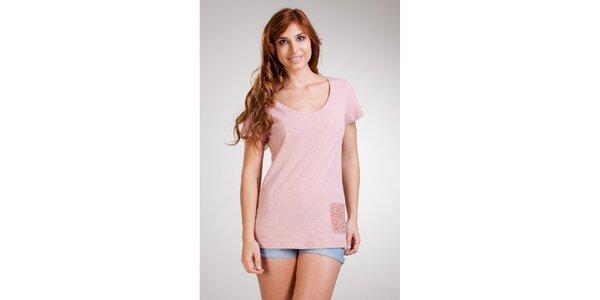 Dámske dlhé ružové tričko Stix