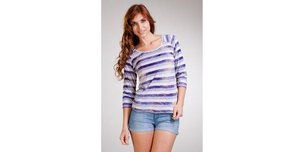 Dámske tričko s fialovými pruhmi Stix